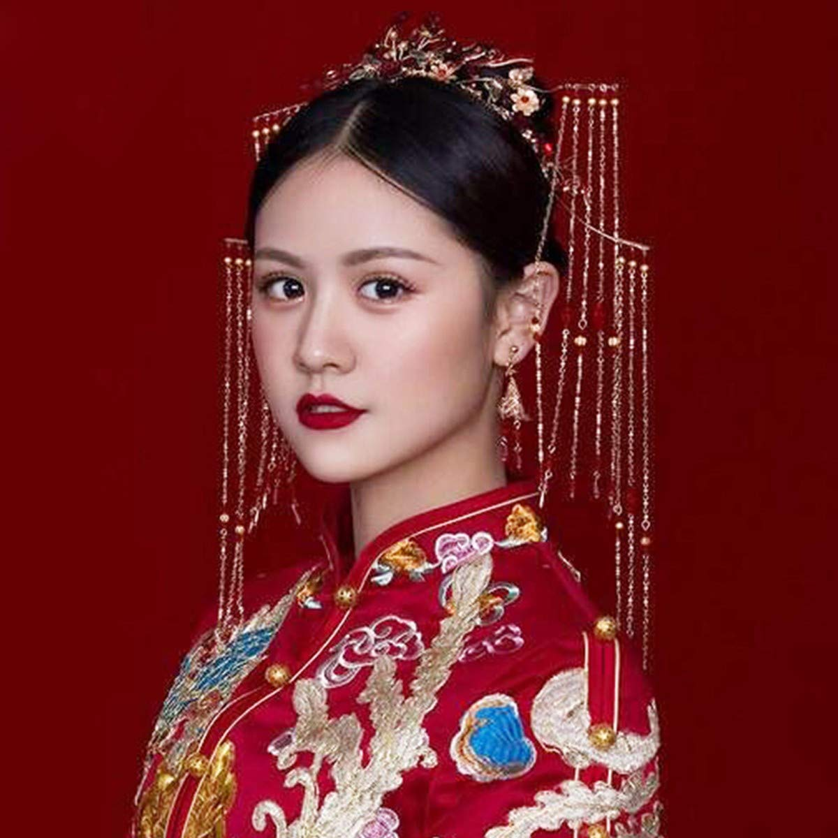 Girls Crown, Beautiful headdress/Chinese Brides Headgear Costume Wedding Antique Chinese Clothes Fringes Xiu Wo Dress Hairpin. by Zehaer (Image #2)