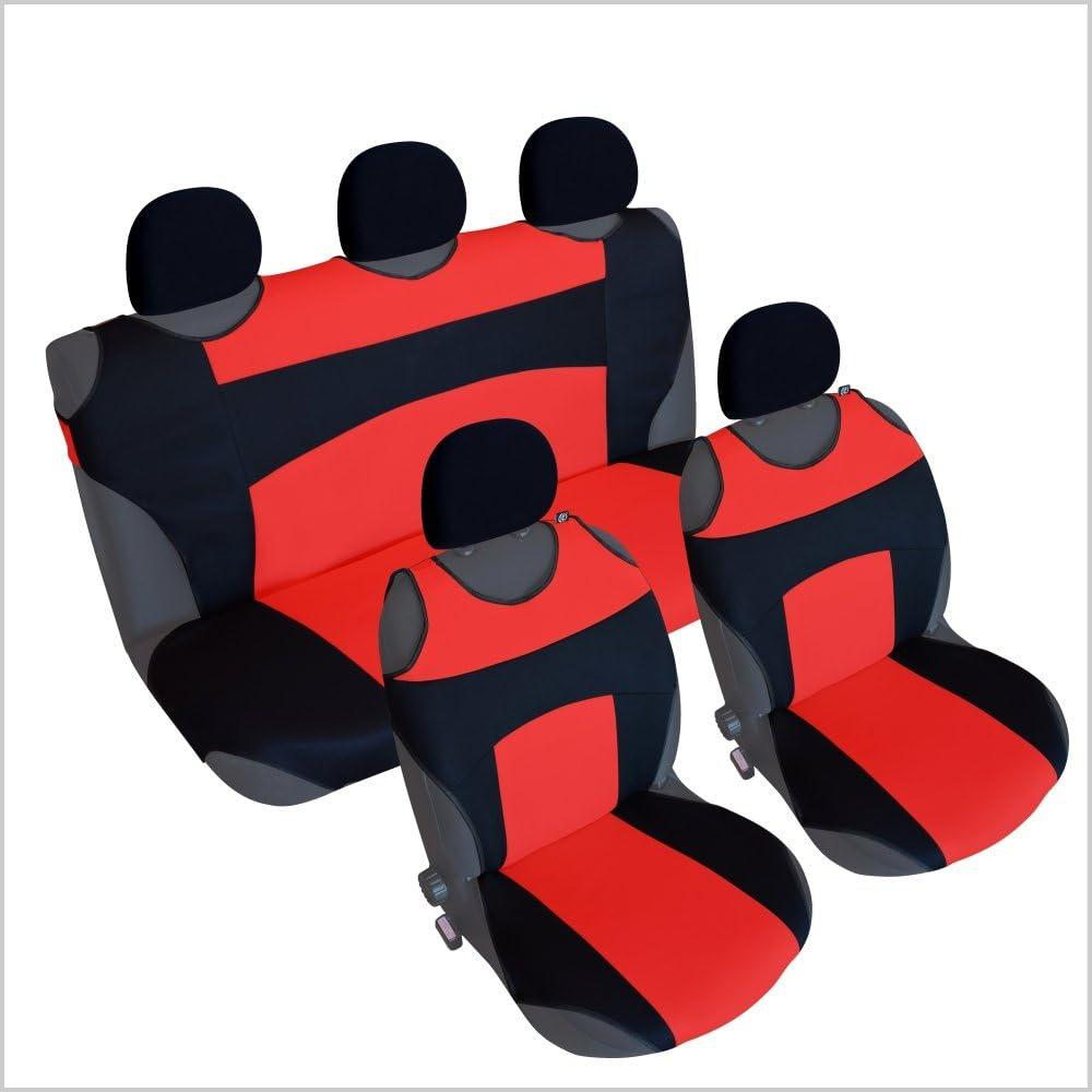 CSC301S color negro y rojo Juego de fundas para asiento de coche