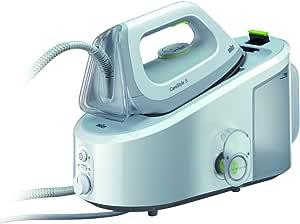 Braun IS3022WH Carestyle 3 - Centro de planchado, 2400 w, depósito 2 litros, suela eloxal 3d, blanco/verde