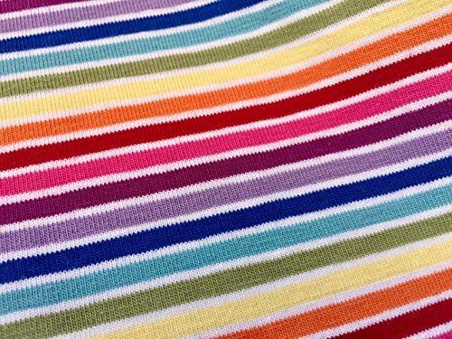 LushFabric Tela Elástica de Punto Multicolor de Color Blanco Arcoíris – 4 Vías Elásticas – 155 cm de Ancho (se Vende por Metros): Amazon.es: Hogar