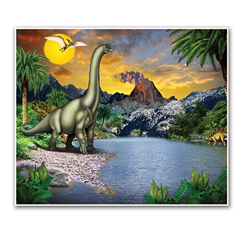 Beistle Dinosaur Insta-Mural Wall Decor | Dinosaur Theme Birthday Party Supplies & Decoration -
