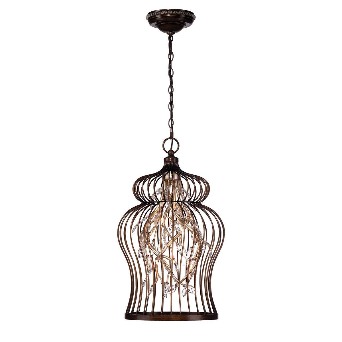 Amazon.com: eurofase iluminación 26368 Fanta 10 Luz Caged ...