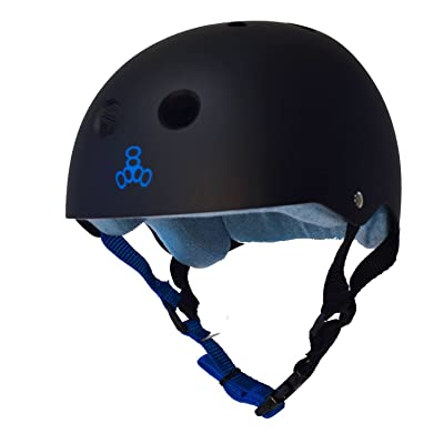 Triple 8 Sweatsaver Helmet-Black/Blue-Small : Sports & Outdoors