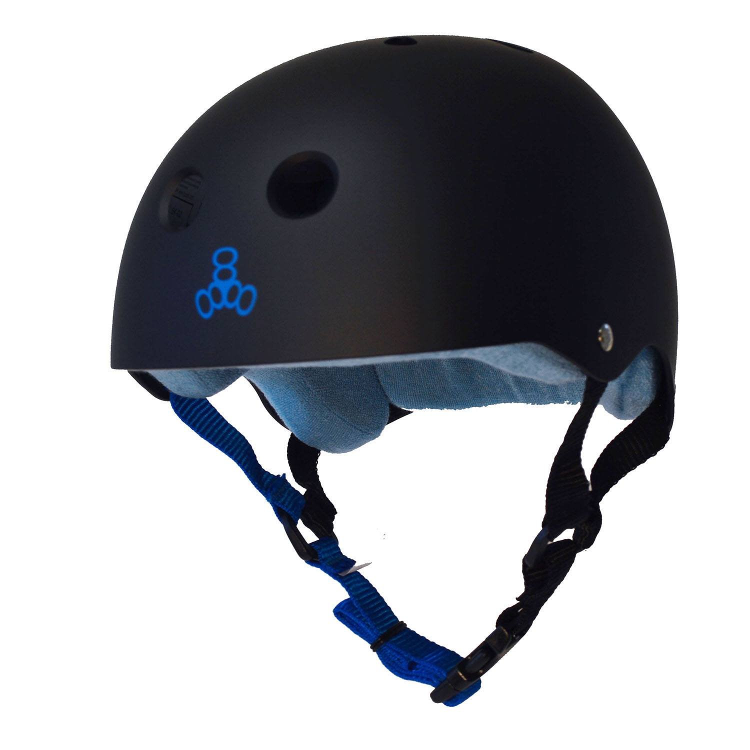 Triple 8 Sweatsaver Helmet-Black//Blue-Large