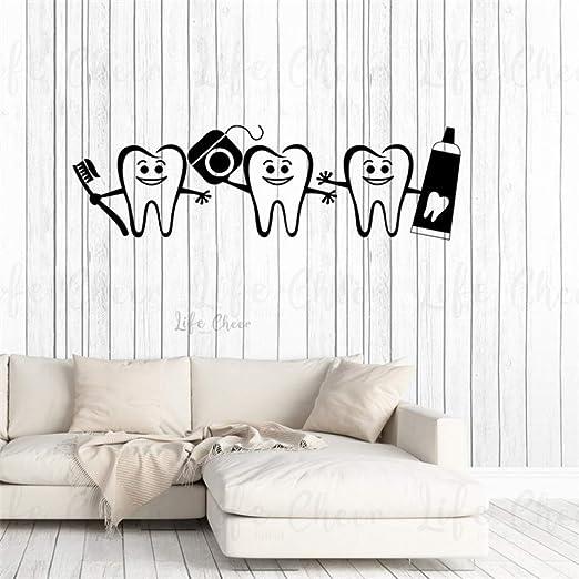 zqyjhkou Dentista Decoración de Oficina Sonrisa Dientes Tatuajes ...