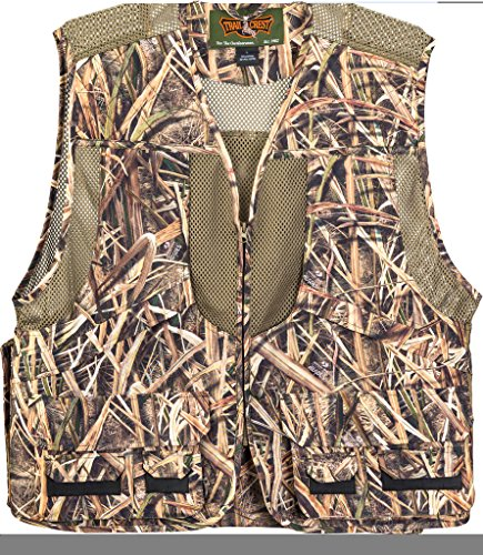 TrailCrest Mossy Oak Deluxe Front Loader Shooting Vest, XL, Shadow Grass (Turkey Quilted)