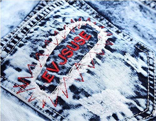Moda Nativity Blau Self Da Classic Ne Cowboy Straight Ssig alla Originali Estilo Especial Jeans coltivati Uomo Zx7q7p