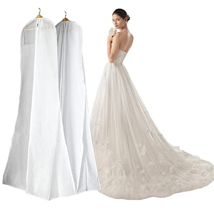 Amazon.com: Manfei Wedding Dress Bags Bridal Gown Garment Bag for ...