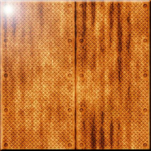 12 x 12 Rikki Knight Grunge Golden Door Design Ceramic Art Tile