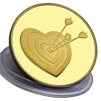 Amazonde Liebesmünze Ich Liebe Dich 24 Karat Vergolden