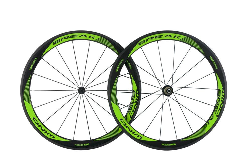 Super team bike carbon road wheels 700Cx50mm clincher wheel set