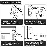 Romwish 33ft LED UV Black Light Strip Kit, 600