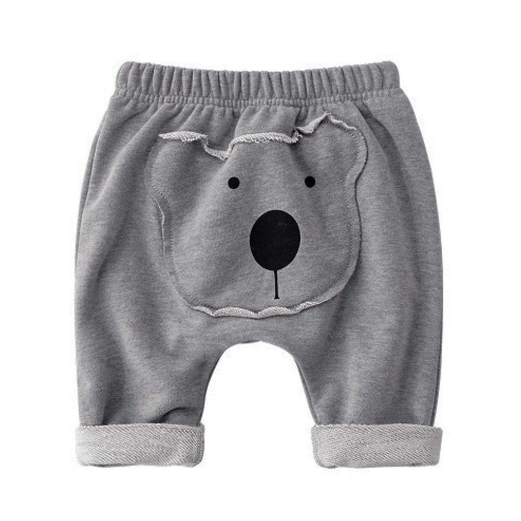 Girls Boys Cartoon Animal Tongue Harlan Pants Toddler Thick Warm Trouser for 0-3 Years Old Kids Solid Pants Leggings Navy EUTUOPU Baby Pants
