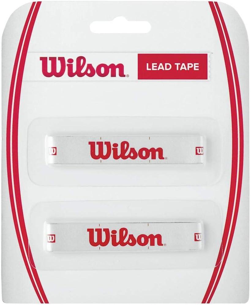 Wilson Lead Tape Cinta de plomo, equilibra el peso de la cabeza de la raqueta, blanco con logo