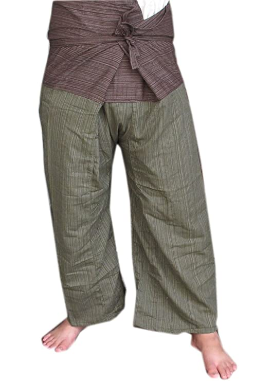 28a079ba1e3 Image Unavailable. Image not available for. Color  2 Tone Thai Fisherman  Pants Yoga Trousers ...