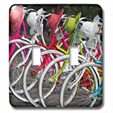 Danita Delimont - Bicycles - Bicycles and colorful straw hats on the street, Jakarta, Indonesia - Light Switch Covers - double toggle switch (lsp_225788_2)