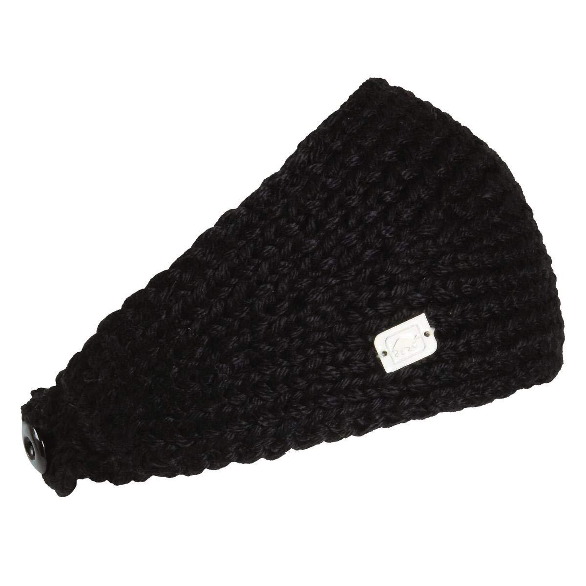 Turtle Fur Women's Oven Hand Knit Fleece Lined Headband, Black by Turtle Fur