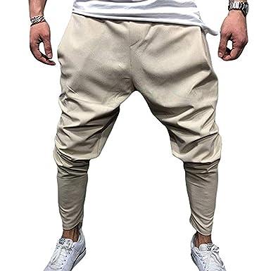 Keephen Pantalón de chándal Holgado de los Hombres Pantalones ...