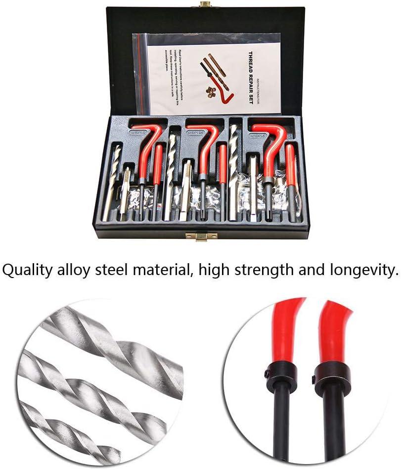 YUANJS Thread Repair Kit,88pcs Thread Fix Kit Screw Joint Wire M6 M8 M10 Changing Tool Insert Industrial Equipment