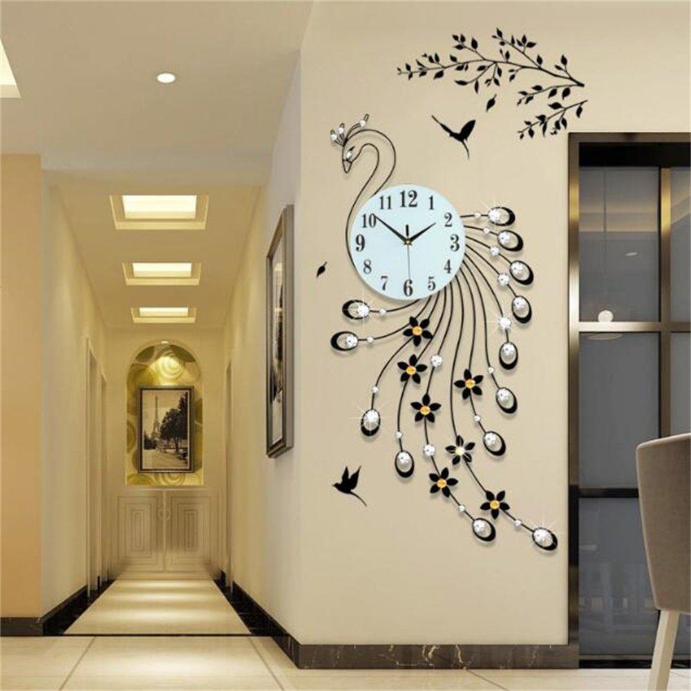 ウォールクロック装飾的なリビングルームパーソナライズされたクリエイティブウォッチ現代のヨーロッパの沈黙のクォーツ時計 (色 : #3) B07D36C4MR #3 #3