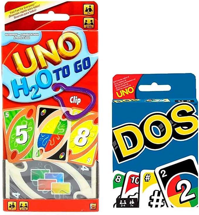 UNO H2O + Dos Juego de Cartas Pack 2 para Regalo Original: Amazon.es: Juguetes y juegos