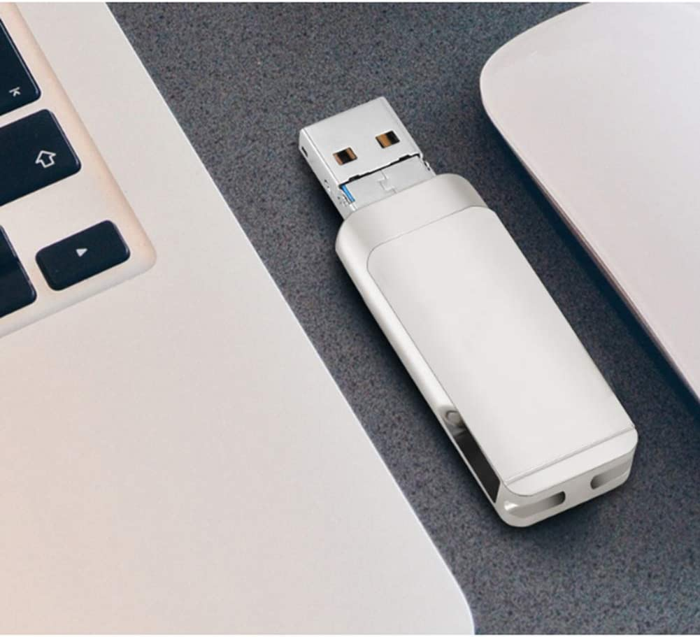Computer USB Storage ,64gb WNTHBJ Rotate Mobile Phone U Disk 1 PCS 3 in 1 Metal Mobile USB3.0 Flash Drive Suitable for 32GB // 64GB // 128GB // 256GB