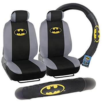 Batman Front Seat Covers Steering Wheel Cover Gift Pack