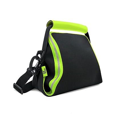 Rolleat - EatnOut Neo - Bolsa Tupper Impermeable | Bolsa Térmica porta Tupper convertible en Mantel con Cremallera, Color Verde