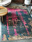 Cheap Unique Loom Aurora Collection Rustic Abstract Vintage Multi Area Rug (8′ x 10′)