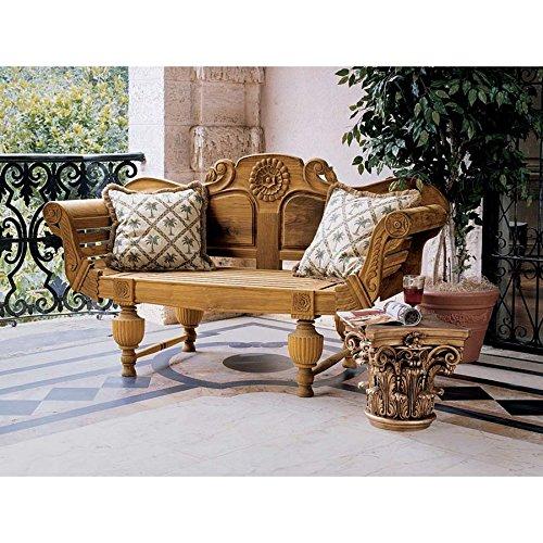 design-toscano-halifax-console-bench-brown