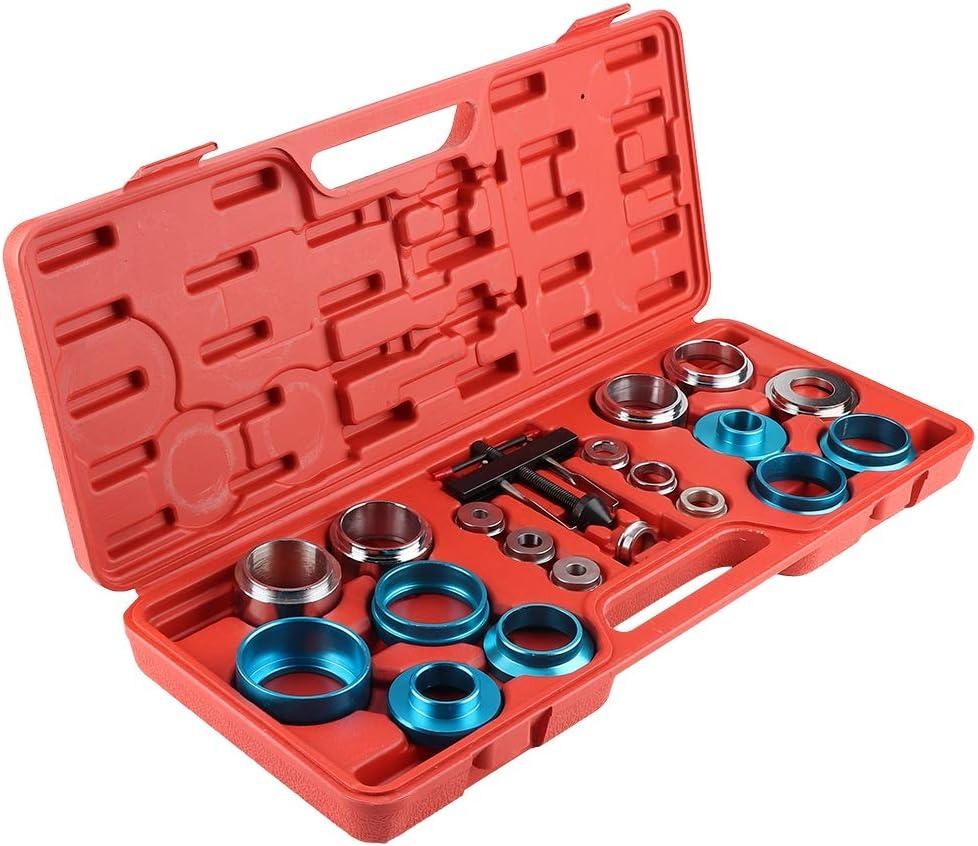 20Pcs Kit de Herramientas para Cojinetes de Ruedas de di/ámetros de 21.5-64 mm,Herramienta de extracci/ón del sello de aceite del /árbol de levas con adaptador de sellado de aluminio