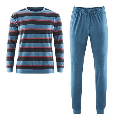 aebb1873ace8b Living Crafts Herren Frottee-Schlafanzug aus Bio-Baumwolle  Amazon.de   Bekleidung