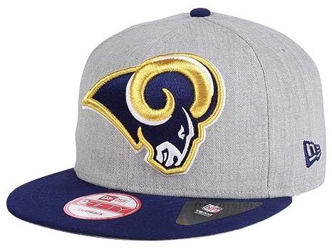 f2231728 NFL Teams New Era Heather Grand 9FIFTY Adjustable Snapback Hat Authentic  Football Cap Heather Gray Adult Unisex Men & Women 80% Acrylic, 20% Wool  (One ...