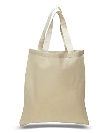 Amazon.com: Set of 6 Blank Cotton Tote Bags Reusable 100% Cotton ...