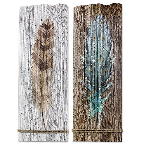 Watercolor Feather Art Set of 2