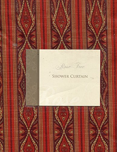Rose Tree Alexandria Fabric Shower Curtain ~ Red