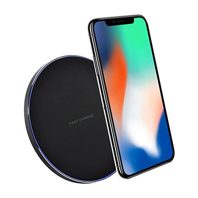 Cargador inalámbrico Bolion Qi, cargador de energía inalámbrico para iPhone 8/8 Plus, iPhone X, Galaxy Note 8, S8, S8 Plus, S6 Edge Plus, Otros ...