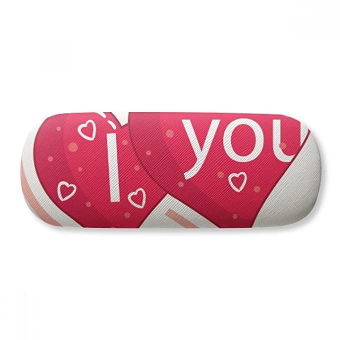 9cd12805e0a Image Unavailable. Image not available for. Color  Valentine s Day Double  Heart Love Glasses Case Eyeglasses Clam Shell Holder Storage Box
