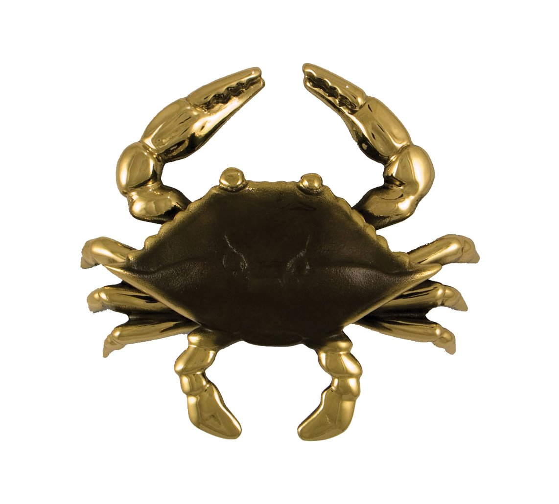 Blue Crab Door Knocker - Brass (Standard Size) Michael Healy Designs MHS131