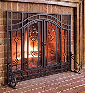 Amazon Com Plow Amp Hearth Floral Large Fireplace Screen