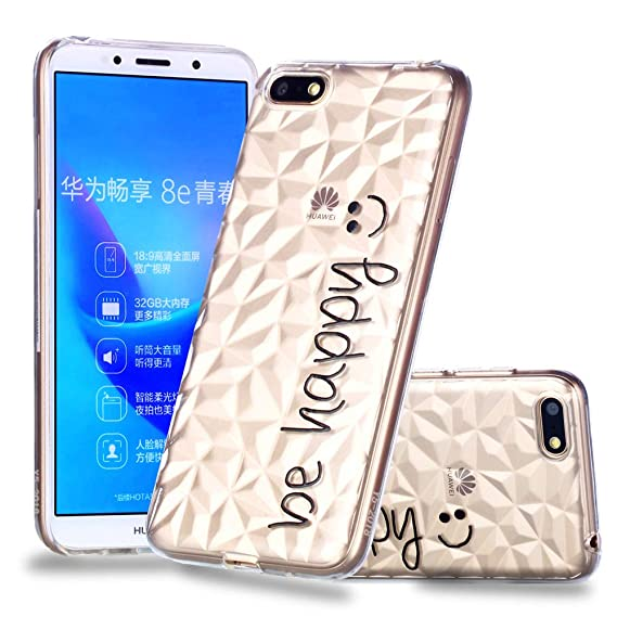 Amazon com: Compatible [] Case Huawei Y5 2018 Ultra Slim Fit Soft
