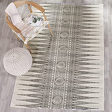 Safavieh Evoke Collection EVK226D Bohemian Vintage Ivory and Grey Area Rug (5'1  x 7'6 )
