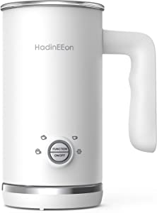 HadinEEon Milk Frother, Electric Milk Frother and Steamer, 4 in 1 Large Capacity Automatic Cold Hot Milk Frother & Warmer (5.1 oz/10.1 oz), Coffee Frother Milk Heater for Making Latte Cappuccino, 120V