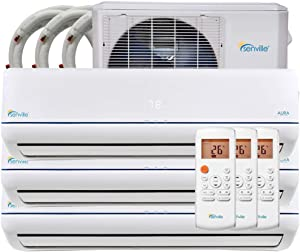 Senville 28000 BTU Tri Zone Mini Split Air Conditioner Heat Pump SENA-30HF/T
