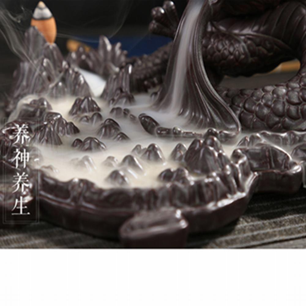 Tongyou Dragon Incense Burner Holder Ceramic Desktop Decoration Home. Crafts Yoga Gift by Tongyou (Image #5)