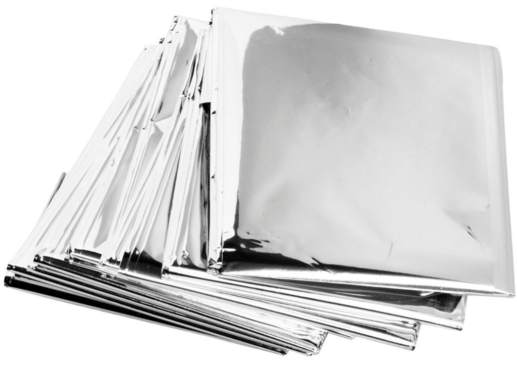 Individually Packaged Primacare Emergency Mylar Thermal Blankets Pack of 100
