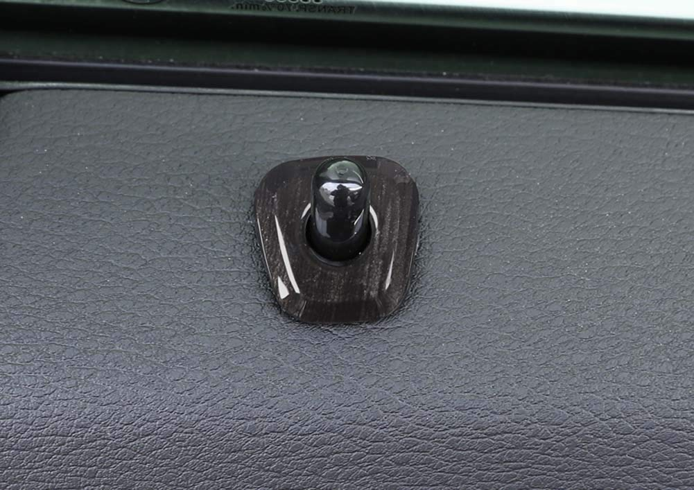 Xinshuo Los pernos de la cerradura de la puerta interior de la fibra de carbono del ABS cubren el ajuste para X1 F48 2016 2017 2018 2019