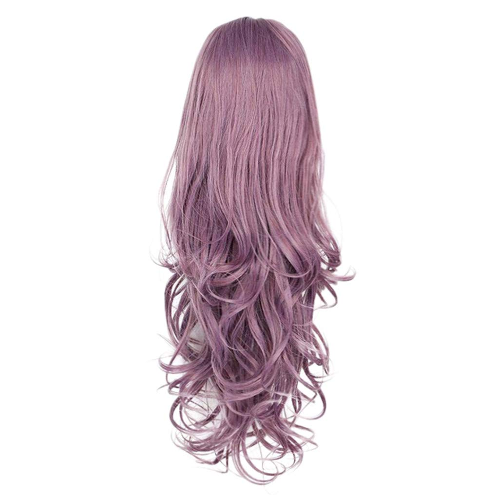 Wig,SUPPION 26inch Lace Front Women's Fashion Wig Purple Synthetic Hair Long Wigs Wave Curly Wig - Cosplay/Party/Costume/Carnival/Masquerade (A)