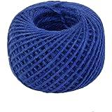 50m Corde de Chanvre Ficelle Cordon pour Emballage Cadeau Artisanat DIY - Bleu Foncé