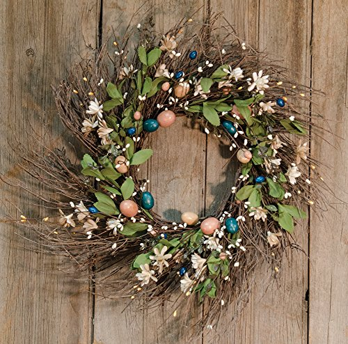 CWI Gifts FISB65010 Artificial Country Easter Wreath, Multicolor